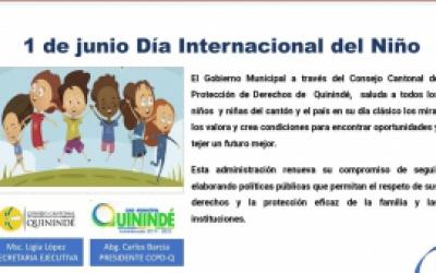 Día Internacional del Niño 1 de Junio