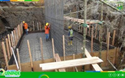 A BUEN RITMO AVANZAN LOS TRABAJOS PARA LA  CONSTRUCCIÓN DEL PUENTE SOBRE EL RIO BLANCO.